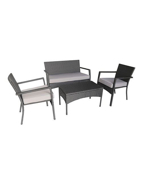 Noble House Cancune Outdoor 4pc Seating Set