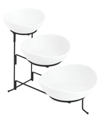 Whiteware Serveware Oval 3 Tier Server, Created for Macy's