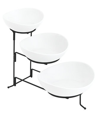 The Cellar Whiteware Serveware Oval 3 Tier Server Created