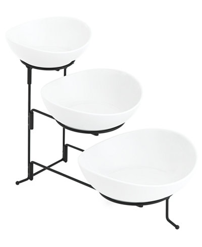 The Cellar Whiteware Serveware Oval 3 Tier Server, Created for ...