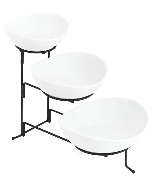 The Cellar Whiteware Serveware Oval 3 Tier Server, Created for Macy's