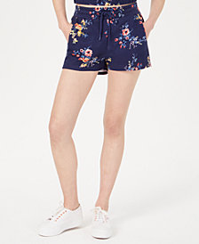 Material Girl Juniors' Printed French Terry Soft Shorts, Created for Macy's