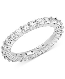 Cubic Zirconia Circle Ring in Sterling Silver