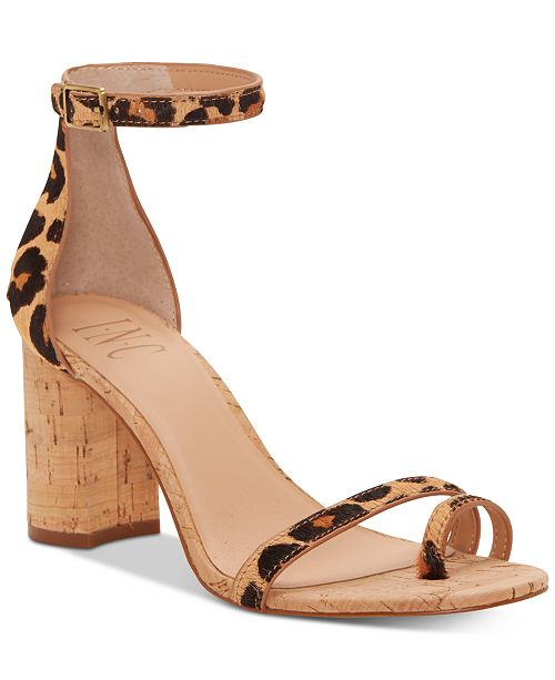 INC International Concepts I.N.C. Women's Wanada Toe-Ring Block-Heel Sandals, Created for Macy's
