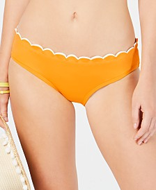 kate spade new york Scalloped Hipster Bikini Bottoms