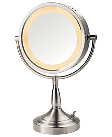 "The Jerdon LT856N 8.5"" Tabletop Two-Sided Swivel Halo Lighted Vanity Mirror"