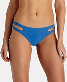 Raisins Juniors' Samba Solids Weekend Cutout Bikini Bottoms