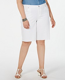 Plus Size Cut Off Bermuda Shorts, Created for Macy's