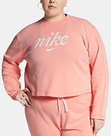 Nike Plus Size Sportswear Cotton Cropped Sweatshirt