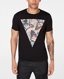 GUESS Men's Tribal Butterfly Graphic T-Shirt