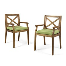 Perla Outdoor Dining Chair, Quick Ship (Set of 2)