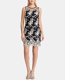 Lauren Ralph Lauren Petite Lace-Embroidered Dress