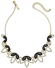 "INC Crystal & Stone Statement Necklace, 18"" + 3"" extender, Created for Macy's"