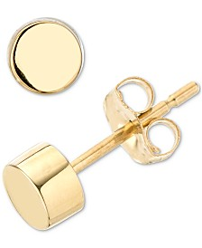 Elsie May Polished Circle Stud Earrings in 14k Gold