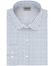 Kenneth Cole Reaction Men's Technicole Slim-Fit 3-Way Stretch Non-Iron Printed Dress Shirt