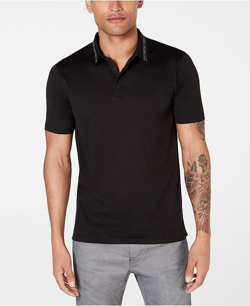 Hugo Boss HUGO Men's Slim-Fit Logo Collar Polo