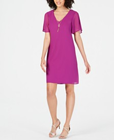 Thalia Sodi Necklace Shift Dress, Created for Macy's