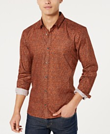 HUGO Hugo Boss Men's Extra Slim Fit Dot Print Shirt
