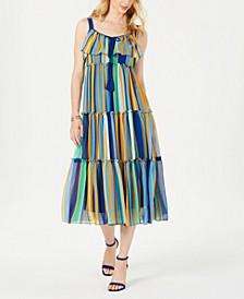Tiered Empire-Waist Maxi Dress