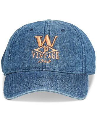 Weatherproof Vintage Men's Embroidered Denim Logo Hat