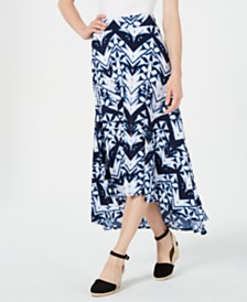 JM Collection High-Low Tie Dye Maxi Skirt, Created for Macy's