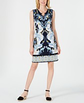 b62b594e1d0 JM Collection Petite Printed Sheath Dress