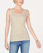 b8954776 Karen Scott Scoop-Neck Cotton Tank Top, Created for Macy's