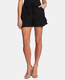 CeCe Ruffled Tie-Front Shorts