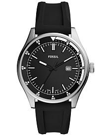 Fossil Men's Belmar Black Silicone Strap Watch 44mm
