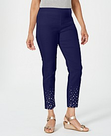 Petite Embellished Slim-Fit Pants, Created for Macy's