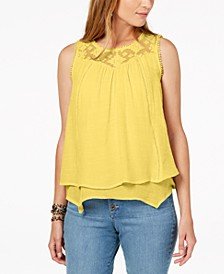 Lace-Trim Swing Top, Created for Macy's