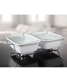 Godinger 3 Qt Double Baker with Stand