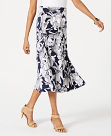 JM Collection Printed Jacquard Midi Skirt, Created for Macys