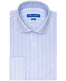 Men's Slim-Fit Stretch Check Dress Shirt
