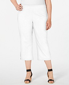 Plus Size Rhinestone-Embellished Capri Pants, Created for Macy's