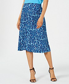 Summer Leaves Printed Pull-On Skirt