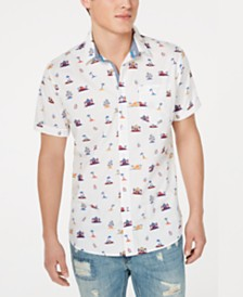 American Rag Men's Tiki Hut Shirt, Created for Macy's