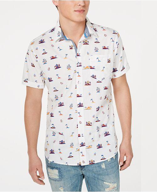 American Rag Men's Tiki Hut Shirt, Created for Macy's
