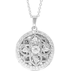 Elsie White Topaz (2-3/4 ct. t.w.) Photo Locket Necklace in Sterling Silver