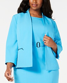 Kasper Plus Size Zip Stretch Jacket