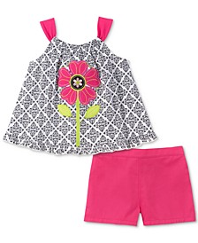 Baby Girls 2-Pc. Printed Tank Top & Shorts Set
