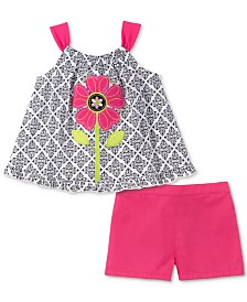Kids Headquarters Baby Girls 2-Pc. Printed Tank Top & Shorts Set
