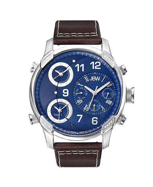 Jbw Men's G4 Diamond (1/6 ct.t.w.) Stainless Steel Watch