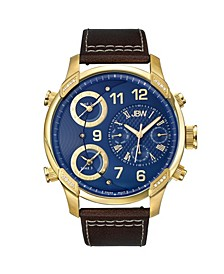 Men's G4 Diamond (1/6 ct.t.w.) 18k Gold Plated Stainless Steel Watch