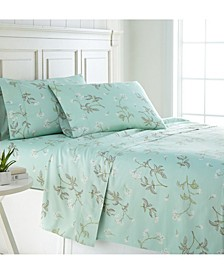 """Forget Me Not 22"""" Extra deep, Pocket Cotton Sheet Set, Twin"""
