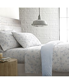 """Boutique Chic 22"""" Extra deep, Pocket Sweetbrier Cotton Sheet Set, King"""