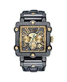 JBW Men's Phantom Diamond (1 ct.t.w.) Black Ion-Plated Stainless Steel Watch