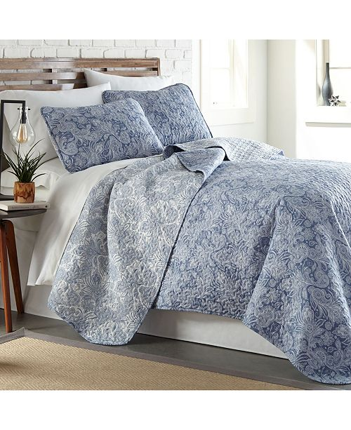 Southshore Fine Linens Perfect Paisley Lightweight Reversible Quilt and Sham Set, King/California King