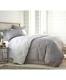 Confetti Reversible Printed Duvet Cover and Sham Set, Full/Queen