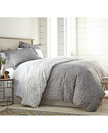 Southshore Fine Linens Confetti Reversible Printed Duvet Cover and Sham Set, Full/Queen